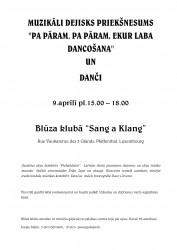 """Visi aicināti uz Piebaldzēnu dejotāju koncertu un dančiem Luksemburgā 9. aprīlī Blūza klubā """"Sang a Klang"""""""