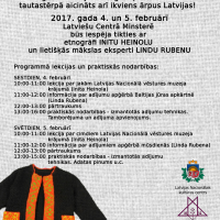 Minsterē visiem interesentiem būs iespēja tikties ar etnogrāfi Initu Heinolu un lietišķās mākslas eksperti Lindu Rubenu