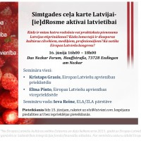 Šonedēļ Eslingenes dziesmu svētkos aicinās vasarā iesaistīties Simtgades ceļa kartes izveidošanā