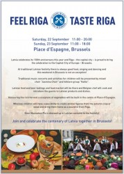 "Nedēļas nogalē Briselē notiks Rīgas dienas ""Feel Riga.Taste Riga"""