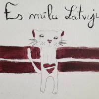 Beļģijā dzīvojošie mazie un lielie latviešu mākslinieki mīļi sveic Latviju 100. jubilejā!