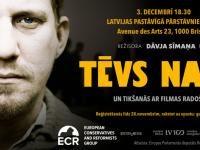 """Dāvja Sīmaņa filmas """"Tēvs nakts"""" seanss Briselē – 3/12/2018"""