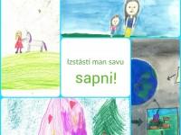 Bērnu zīmējumu konkurss ''Izstāsti man savu sapni'' – darbu iesniegšanas termiņš – Piektdiena 8.novembris!