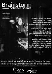 """Eiropas Parlamentā notiks ekskluzīvs filmas """"Prāta Vētra: starp krastiem"""" seanss"""