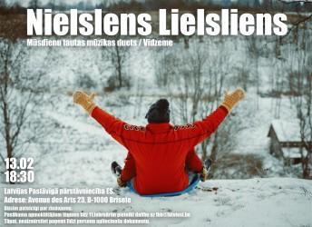 """Briselē koncertēs mūsdienu tautas mūzikas grupa """"Nielslens Lielsliens"""" no Vidzemes – 13.02.2020"""